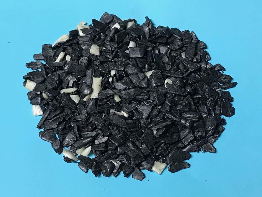 PCABS postindustrial regrind - black color