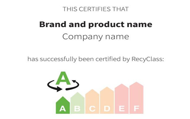 Certification that guarantees the traceability of recycled content