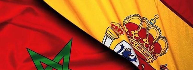 bandera españa y marruecos